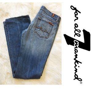 7FAM Hombre Straight Leg Jeans